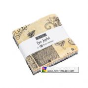 "Bee Joyful - Mini Charm by Deb Strain for Moda Fabrics - 42 x 2.5"" fabric squares"